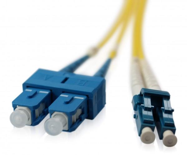 LWL Patchkabel SC/UPC - LC/UPC OS2 - 2,0 mm x 4,0 mm