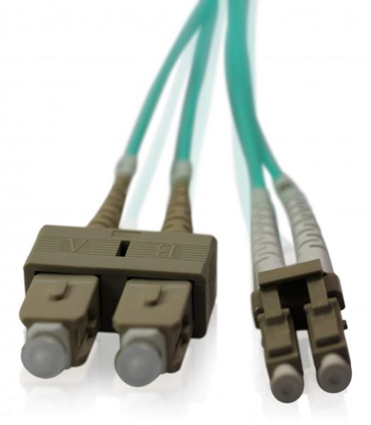 LWL Patchkabel SC/UPC - LC/UPC OM3 - 2,0 mm x 4,0 mm