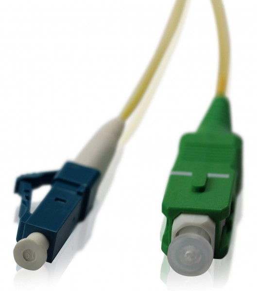 LWL Patchkabel SC/APC - LC/PC OS2 - 1,2 mm