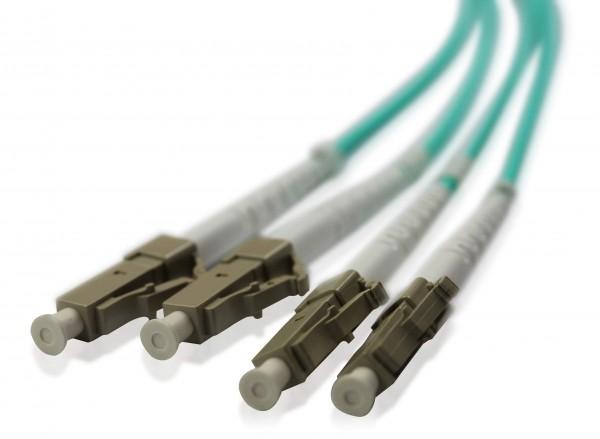 LWL Patchkabel LC/UPC - LC/UPC OM3 - 2,0 mm x 4,0 mm